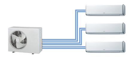 Схема подключения внутренних блоков при сборке мультисплит-системы